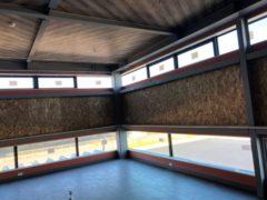 防煙垂壁、電気錠、スチール扉