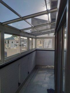 2階用テラス囲い