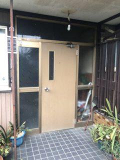玄関サッシ取り替え工事